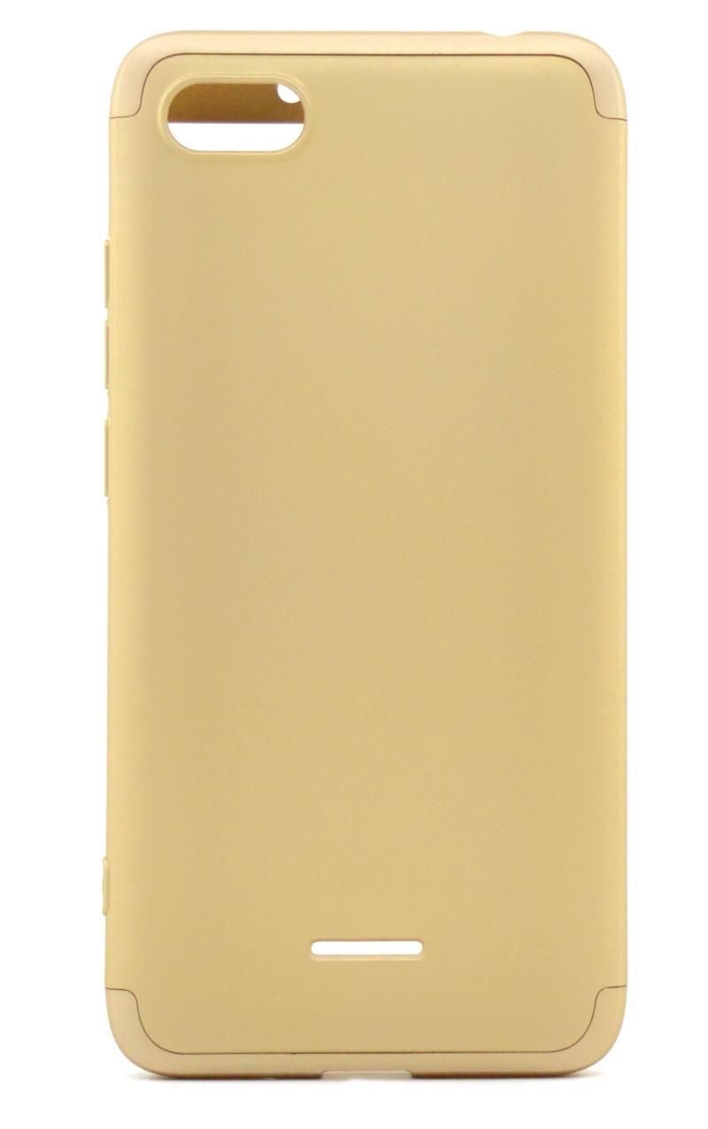 Чехол 360 ° GKK LikGus для Xiaomi Redmi 6A Пластик Золотистый