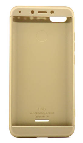 Чехол 360 ° GKK LikGus для Xiaomi Redmi 6A Пластик Золотистый, фото 2