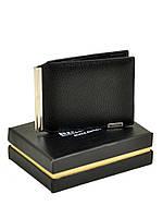 Мужской зажим для денег из гладкой кожи Bretton черный 11,5*8,5 см, фото 1