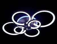 Люстра накладная Diasha R-1811/6 CF LED dimmer (коричневая), фото 1