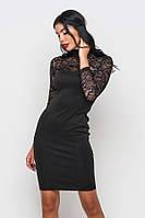 (S / 44) Коктейльне чорне плаття з гіпюром Argo