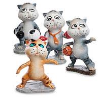 "Набор из 4 фигурок, статуэток ""Коты - спортсмены"" MN- 02"