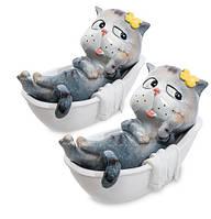 """Набор из 2 статуэток """"Кот в ванной"""" MN- 04"""