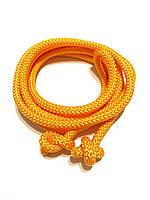 Гимнастическая скакалка диаметр 10 мм. оранжевая 3 метра, из синтетического материала полипропилена.