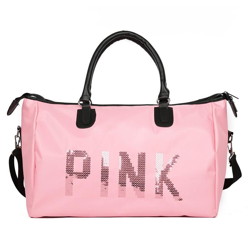 Сумка спортивная женская PINK розовая купить по выгодной цене в ... 18d51417bd3f2