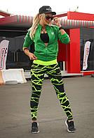 Спортивные лосины S, L, XL (44, 48, 50). Лосины женские для танцев, фитнеса, спорта, тренировок. Желтый