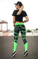 Спортивні лосини S, M, XL (44-46, 46-48, 50-52) Лосіни жіночі для фітнесу спорту тренувань, фото 2