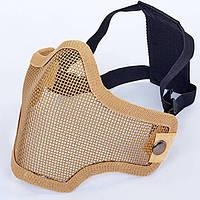 Маска защитная пол-лица из стальной сетки для пейнтбола CM01