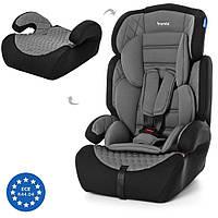 Автокресло детское для машины (кресло для авто) с регулируемым подголовником 2в1 Bambi (M 3546)