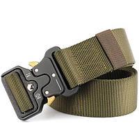 Пояс тактический Tactical Belt оливковый р-120*3,5см TY-6841