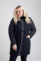 Демисезонная куртка «Рима» с шерстью большого размера