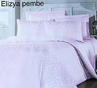 Постельное белье сатин жаккард Altinbasak (евро-размер) № Elizya Pembe