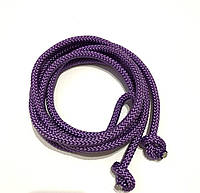 Гимнастическая скакалка диаметр 10 мм. фиолетовая 3 метр.