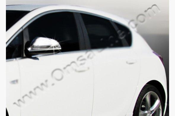 Накладки на зеркала (2 шт, нерж.) Opel Astra J 2010↗ гг.