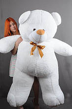 М'яка іграшка ведмедик Веніамін 200 см, білий