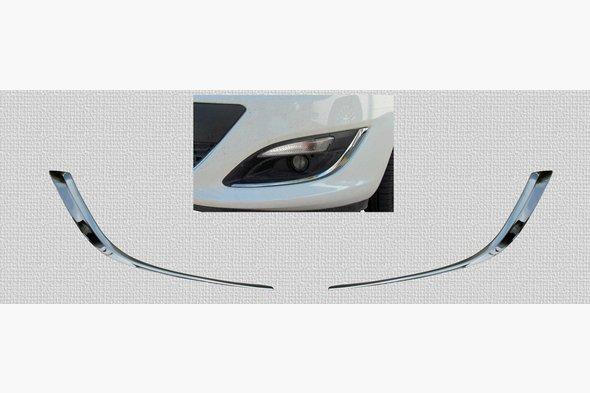 Накладки на противотуманки (2 шт, нерж) Opel Astra J 2010↗ гг.