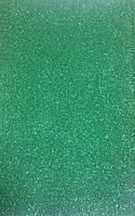 Фоамиран темно-зеленый с глиттером самоклеющийся  Josef Otten 2 мм