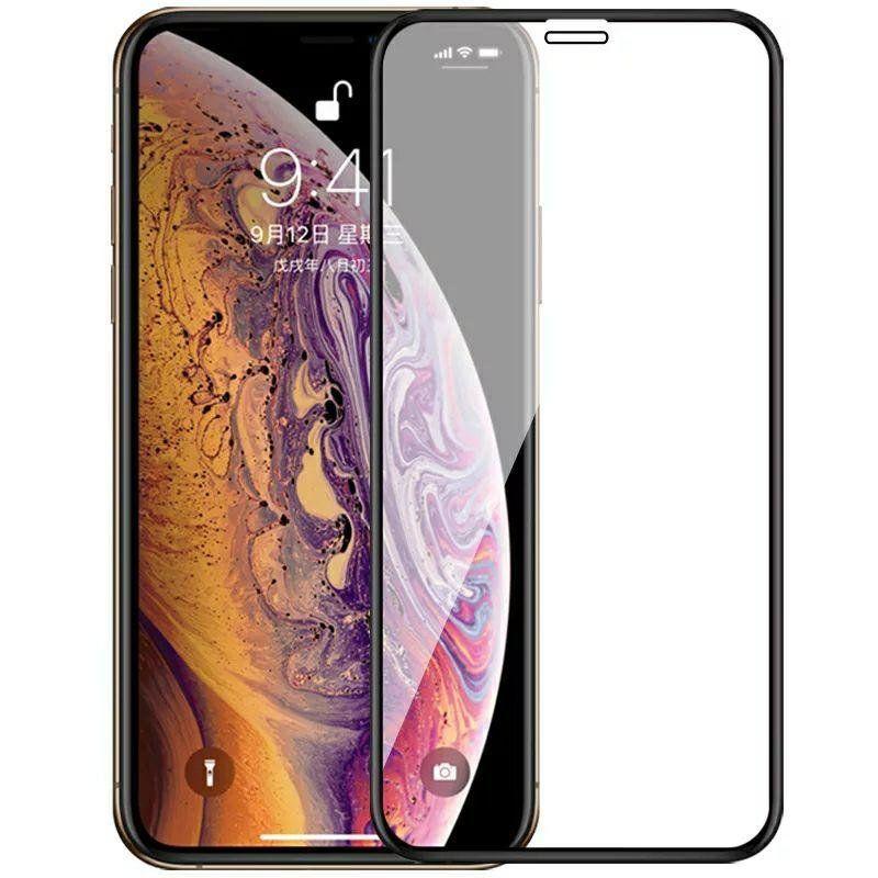 Защитное стекло 5D Full Cover для iPhone ХR цвет Черный