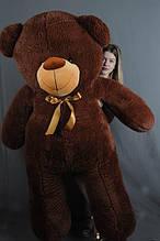 М'яка іграшка ведмедик Веніамін 200 см, шоколад