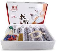 Комплект вакуумных банок из 32 штук для массажа