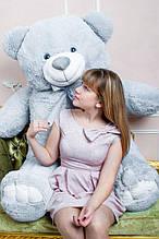 М'яка іграшка ведмедик Веніамін 200 см, сірий