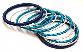 Комплект из 11 браслетов кольцо в ткани