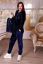 Женский костюм из велюра в стиле family look, одежда для мамы и дочки, фото 3