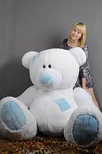 М'яка іграшка ведмедик з латками 250 см, білий