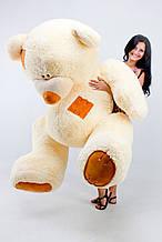 М'яка іграшка ведмедик з латками 250 см, крем