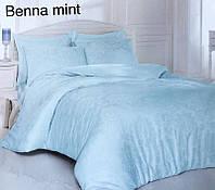 Постельное белье сатин жаккард Altinbasak (евро-размер) № Benna Mint