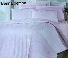 Постельное белье сатин жаккард Altinbasak (евро-размер) № Benna Pembe