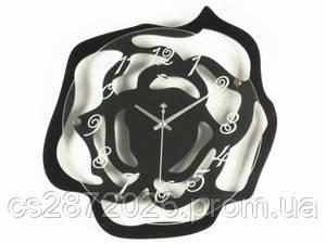 Часы настенные дерево Роза