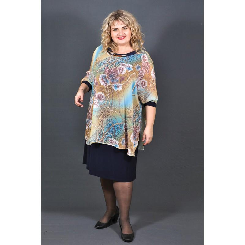 5c499b60044 Нарядное платье Далида больших размеров 60