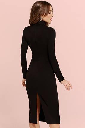 Черное платье с вырезом на ключице, фото 2