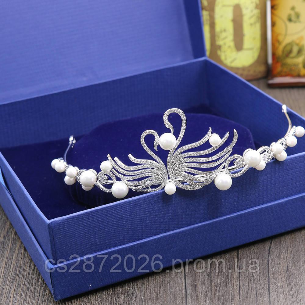 Диадема для волос свадебная Лебеди