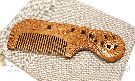 Расческа для волос резная сандал Морские сокровища
