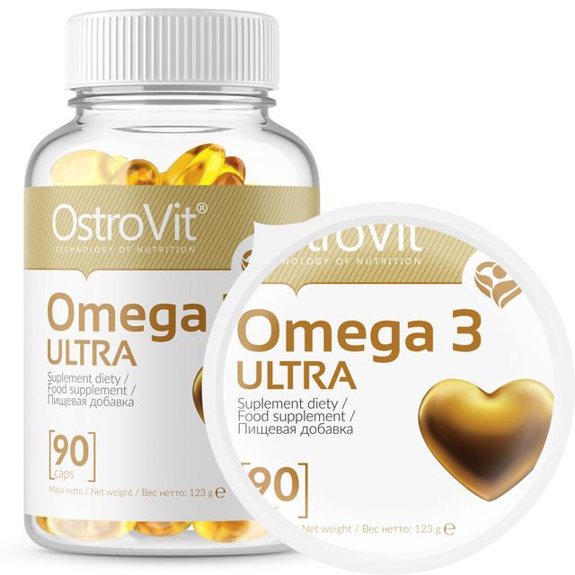 Омега 3, OstroVit Omega 3 ULTRA 90 капсул, цена 230 грн., купить в  Мариуполе — Prom.ua (ID#754426374)