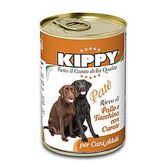 Паштет Kippy Dog для собак с курицей, индейкой и морковью, 400 г
