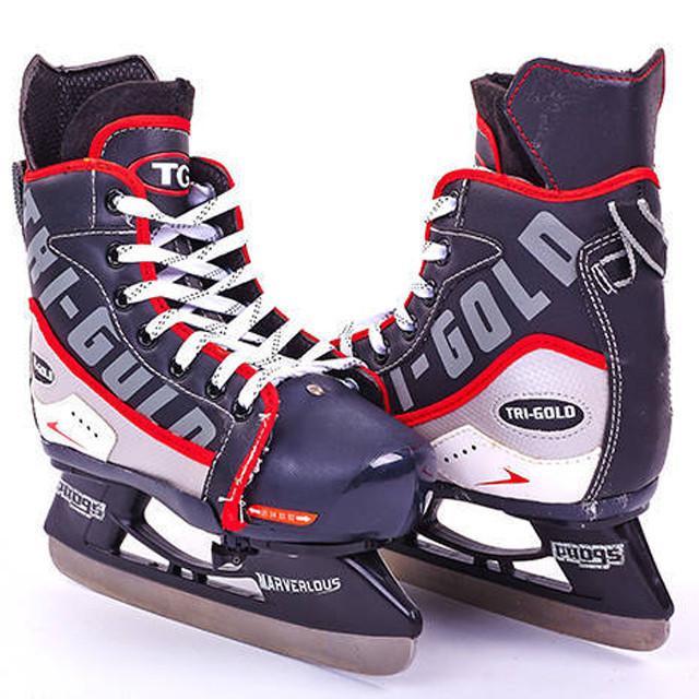 Коньки детские раздвижные хоккейные PVC TG-KH901R(32-35)