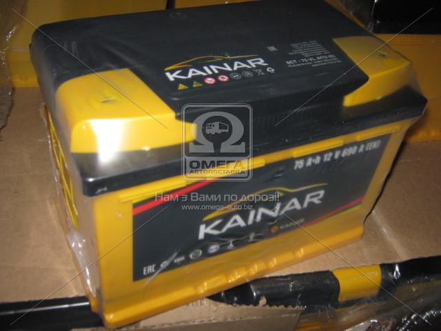 Аккумулятор 75Ah KAINAR Standart 690A R (Правый+ Евро)