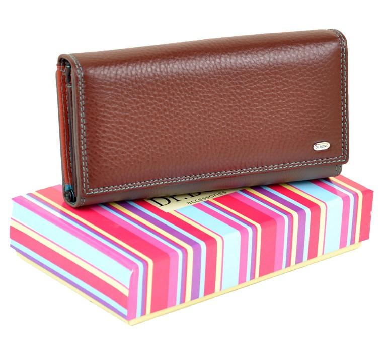 0074ff450e3f Женский кожаный кошелек, клатч, портмоне Rainbow Dr Bond. Из натуральной  кожи. Темно-красный