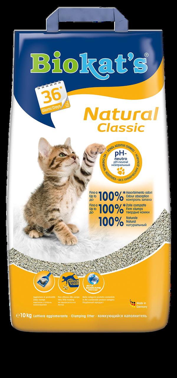 Наполнитель Biokat's Natural для кошек глиняный, 5 кг