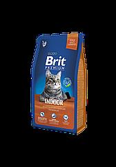 Сухой корм Brit Premium Cat Indoor для кошек, живущих в помещении 8 кг