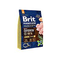 Сухой корм Brit Premium Junior M для щенков и молодых собак средних пород со вкусом курицы 15 кг