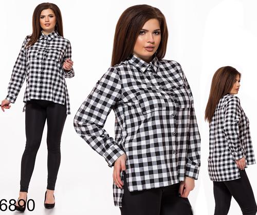 Купить женскую рубашку большого размера (батал) для полных в Украине интернет магазин Style-Girl