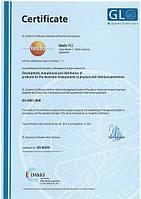 Сертификат Testo ISO 9001