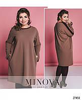 894063c8635 Лаконичное платье-оверсайз с бархатной отделкой ТМ Minova р. 48-54