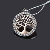 Серебряная подвеска Деревце с позолотой, фото 1