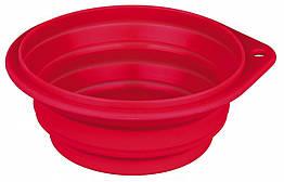 Миска Trixie Travel Bowl для собак дорожная, силикон, 0.25 л
