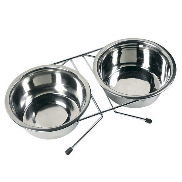 Миски Karlie-Flamingo Duo Dinner для собак на подставке, 0.75 л
